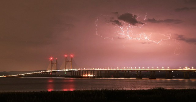 Severn Bridge lightning #2