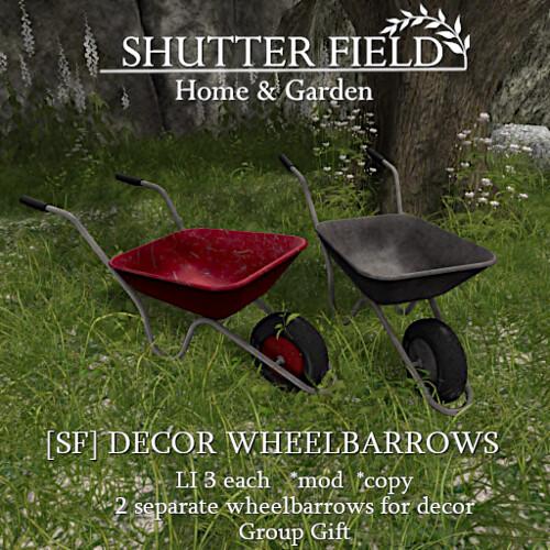SF Decor Wheelbarrows Ad