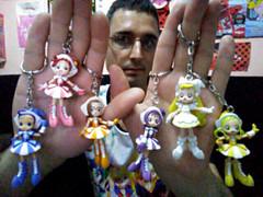 Ojamajo Doremi Dokkaan! - Doremi, Hazuki, Aiko, Onpu, Momoko and Hana Apprentice Witch Keychains