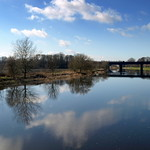 Mirror like River Ribble at Preston