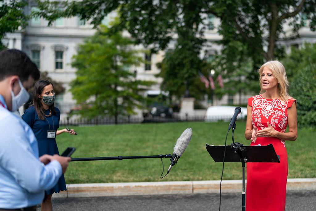Kellyanne Conway Speaks with Reporters