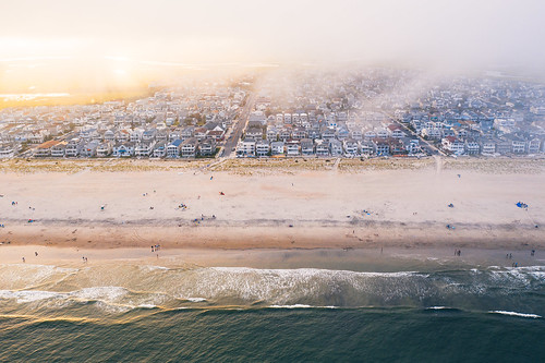 sunset ocnj seascape aerial landscape landscapephotography travel travelphotography drone vacation clouds cloudscape