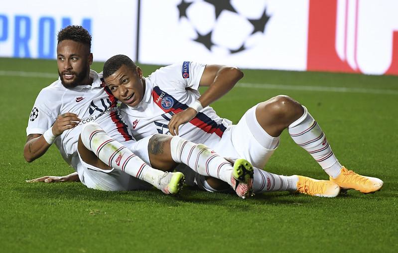 Neymar(左)、Kylian Mbappé(右)。(達志影像資料照)