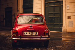 A red mini in Rome