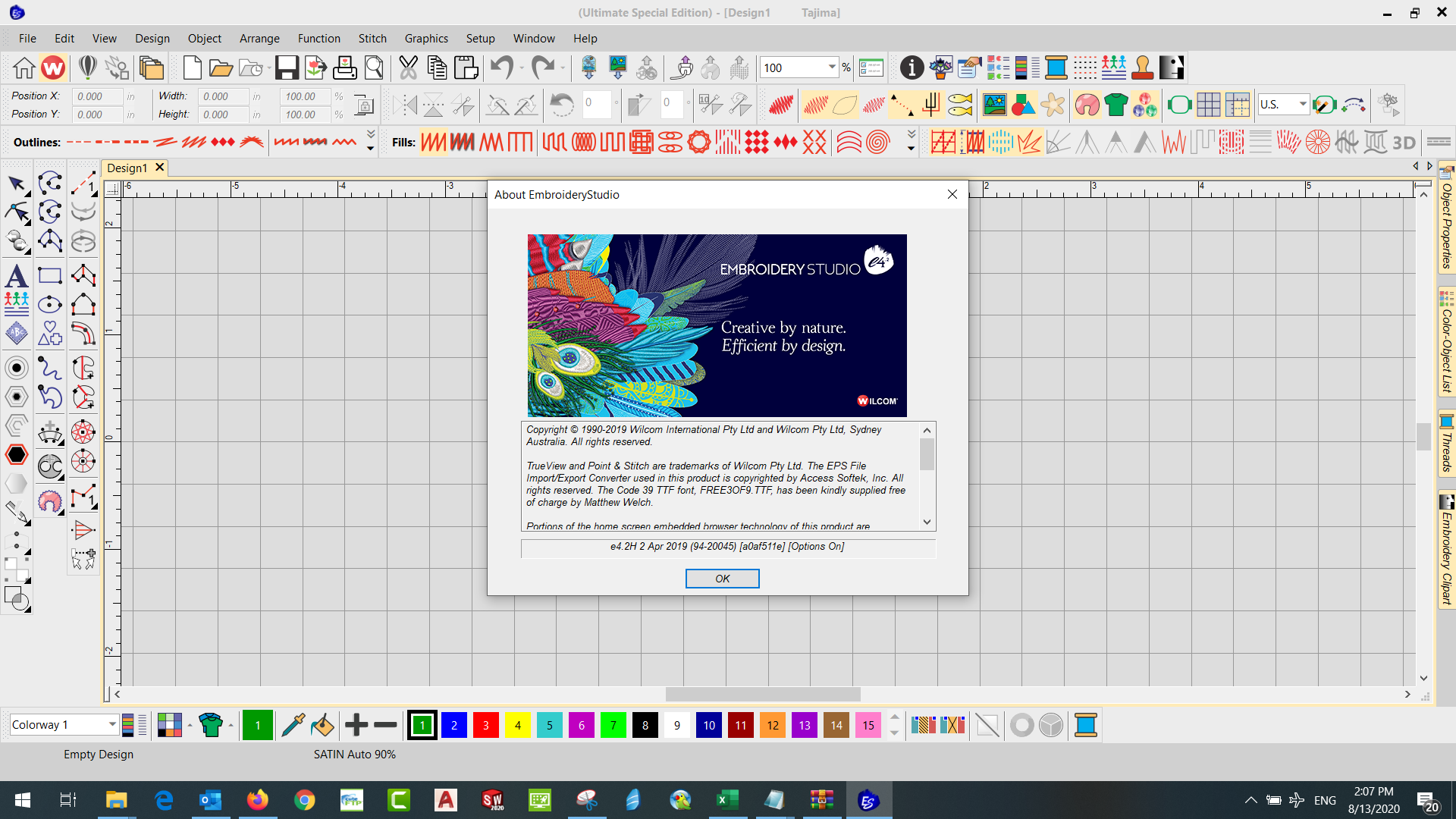 Working with Wilcom Embroidery Studio E4.2 full license