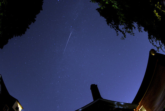 Bright Perseid Meteor