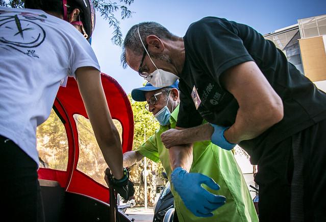 Els voluntaris sempre ajudant - Primera sortida 'EBSE' postconfinament