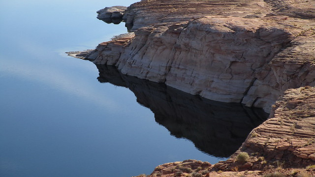 Arizona - Lake Powell:  fascinating coastal formation in the lake, dammed by water of the Colorado River