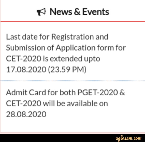 SVNIRTAR CET 2020 Application Form Deadline Extended