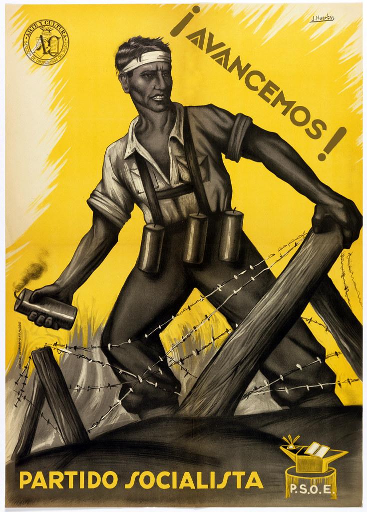 El Generalisimo Spanish Civil War Vintage WW2 Poster