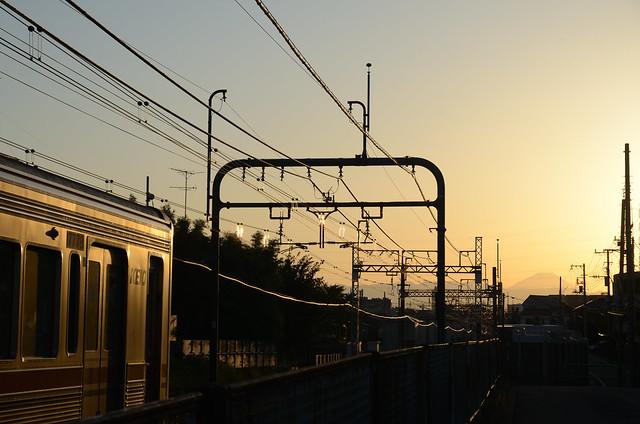 Keio 7000 Series and Mt.Fuji in Kyuden 12