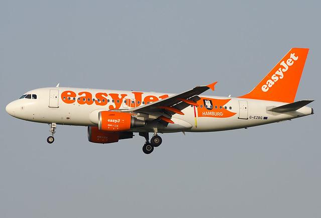G-EZBG  EasyJet Airline Airbus A319-111