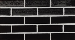 Midnight Black Glaze Smooth Texture black Brick