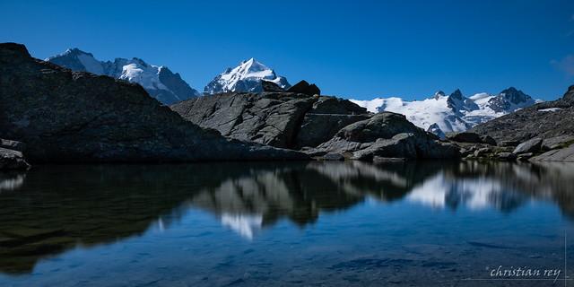 Lake of Fuorcla Surlej  2755m. (Switzerland)