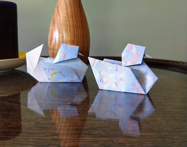 Origami Mandarin ducks