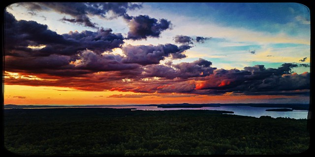 Painting The Sky Over Sebago
