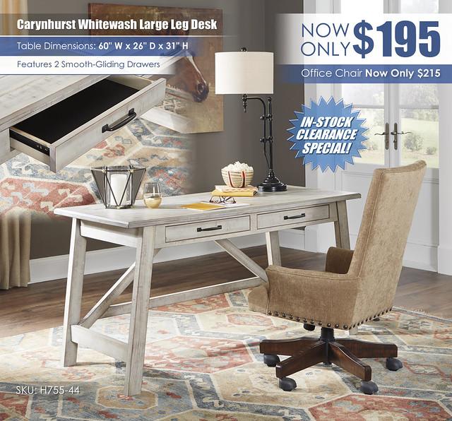Carynhurst Whitewash Desk_H755-44-H675-01A