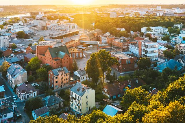 Sunset | Kaunas aerial #225/365