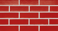 Red Hot Glaze Smooth Texture red Brick