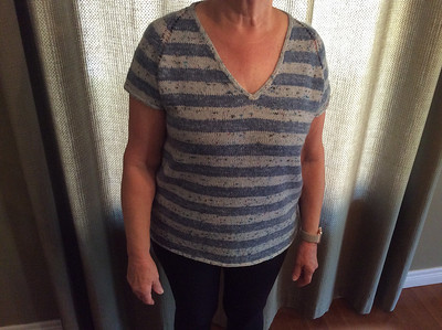 Ann finished her Rock It Tee by Tanis Lavallee!