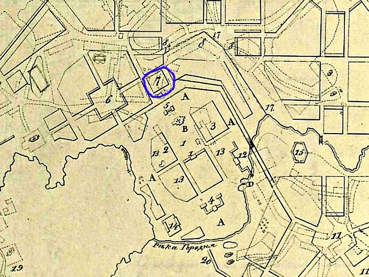 Планъ Московскаго намѣстничества Городу Волоколамску 1784 года