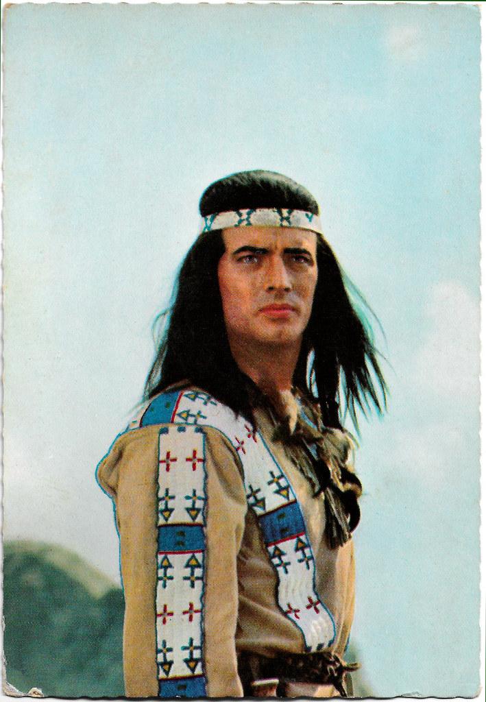Pierre Brice 25,4 x 20,3 cm Werbefoto Classic wie Winnetou Karl May Filme