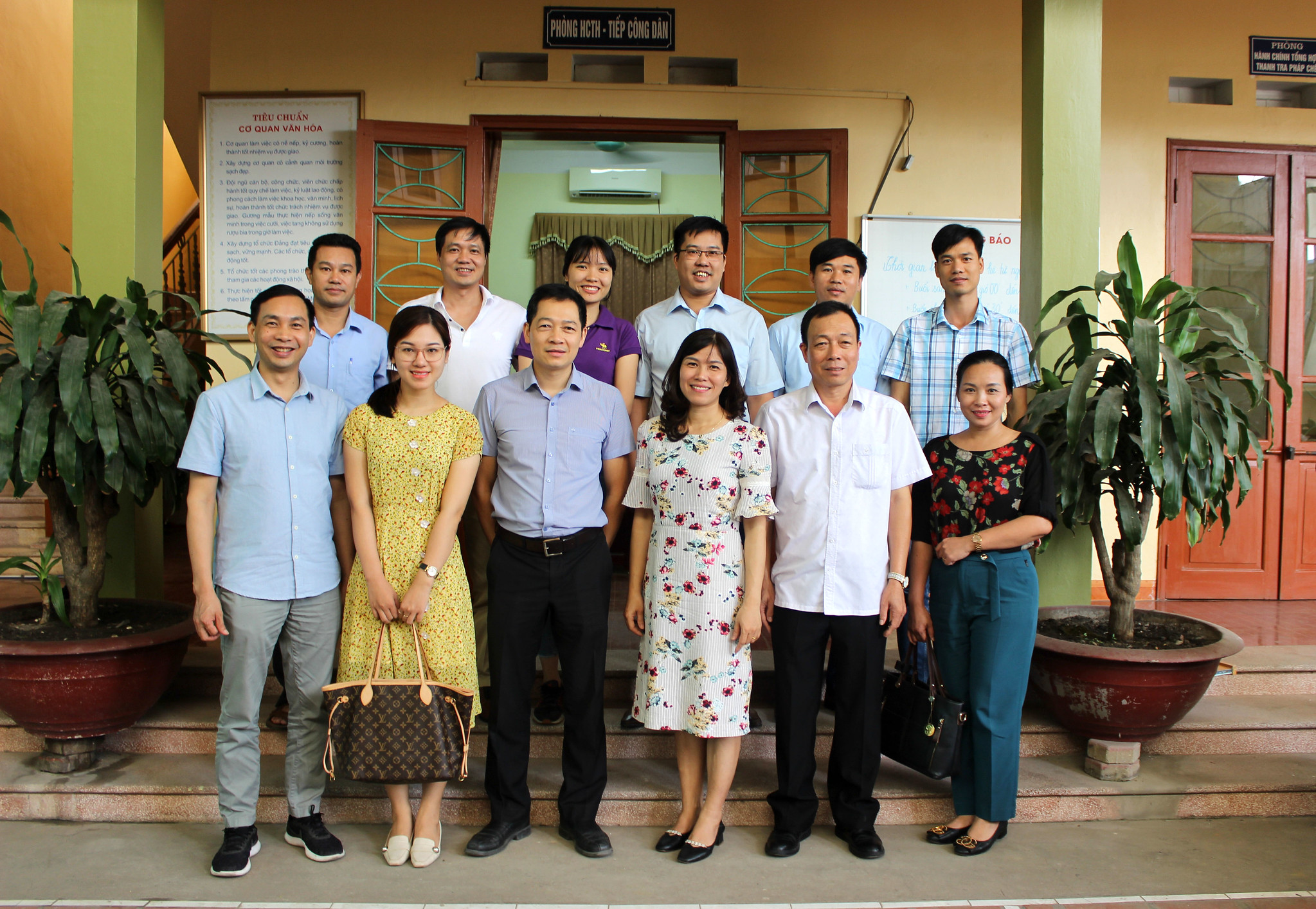 Meeting partners in Thai Nguyen, July 2020