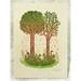 """TOGETHER TREES"" Woodcut Print | 3 Blocks | Tugboat Printshop"