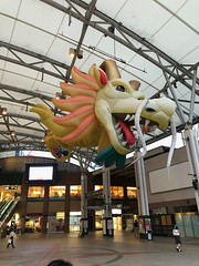 Massive Chinese-style dragon welcomes you at Nagasaki Station