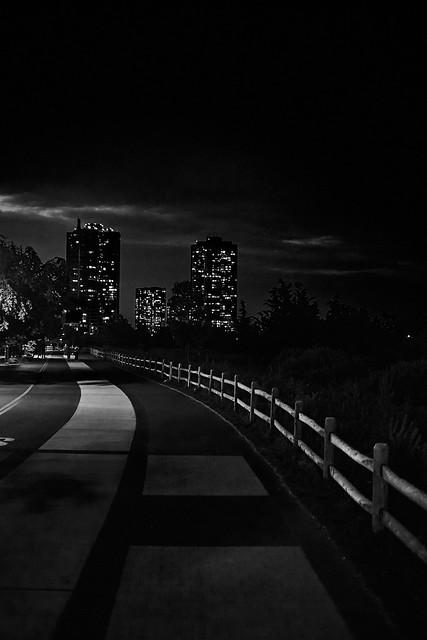 Waterfront path at Night