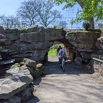 Rock garden at Moor Park, Preston