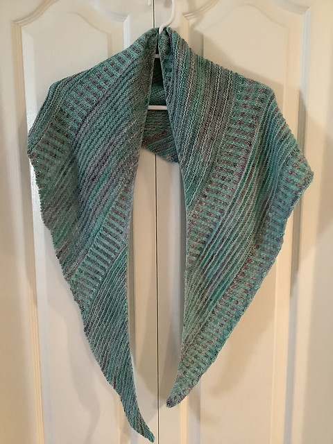 Carla finished her Breathe and Hope Shawl by Casapinka l!
