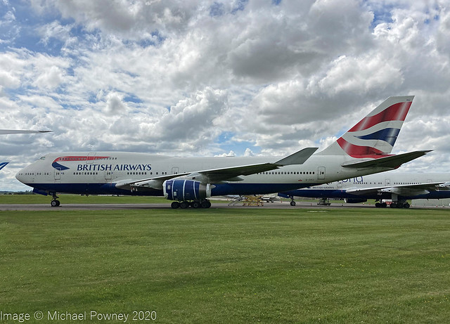 G-CIVJ - 1997 build Boeing B747-436, withdrawn from used and parked at Kemble