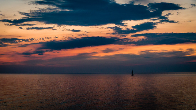 Sailboat on Lake Ontario