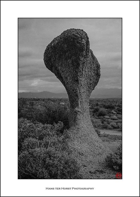 Wind-sculpted desert rock