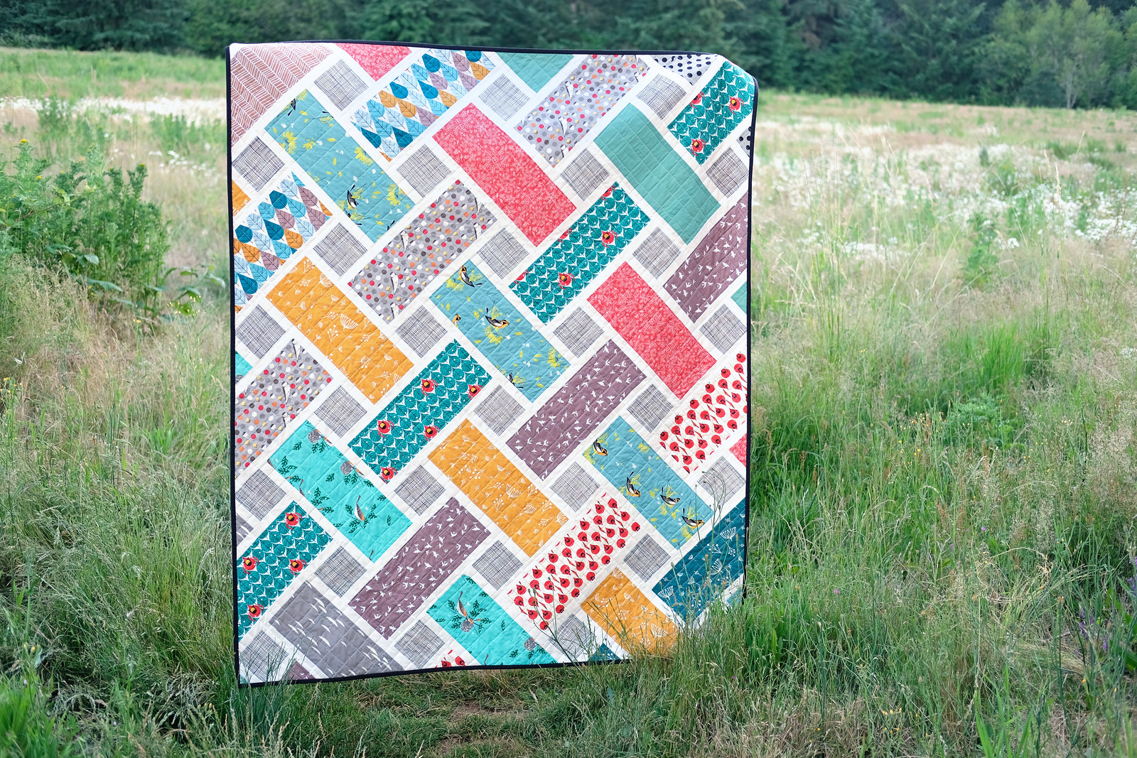 The Tessa Quilt - Charley Harper Version - Kitchen Table Quilting
