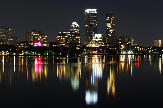 Boston Back Bay Skyline at Night