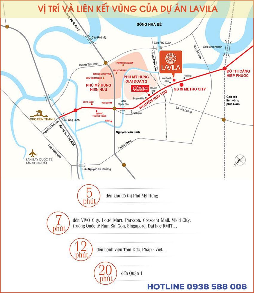 Dự án Lavila Nam Sài Gòn có vị trí đắc địa, thừa hưởng lợi thế quy hoạch vùng, dễ gia tăng giá trị trong tương lai.