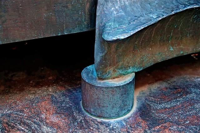 Detail bronzen beeld