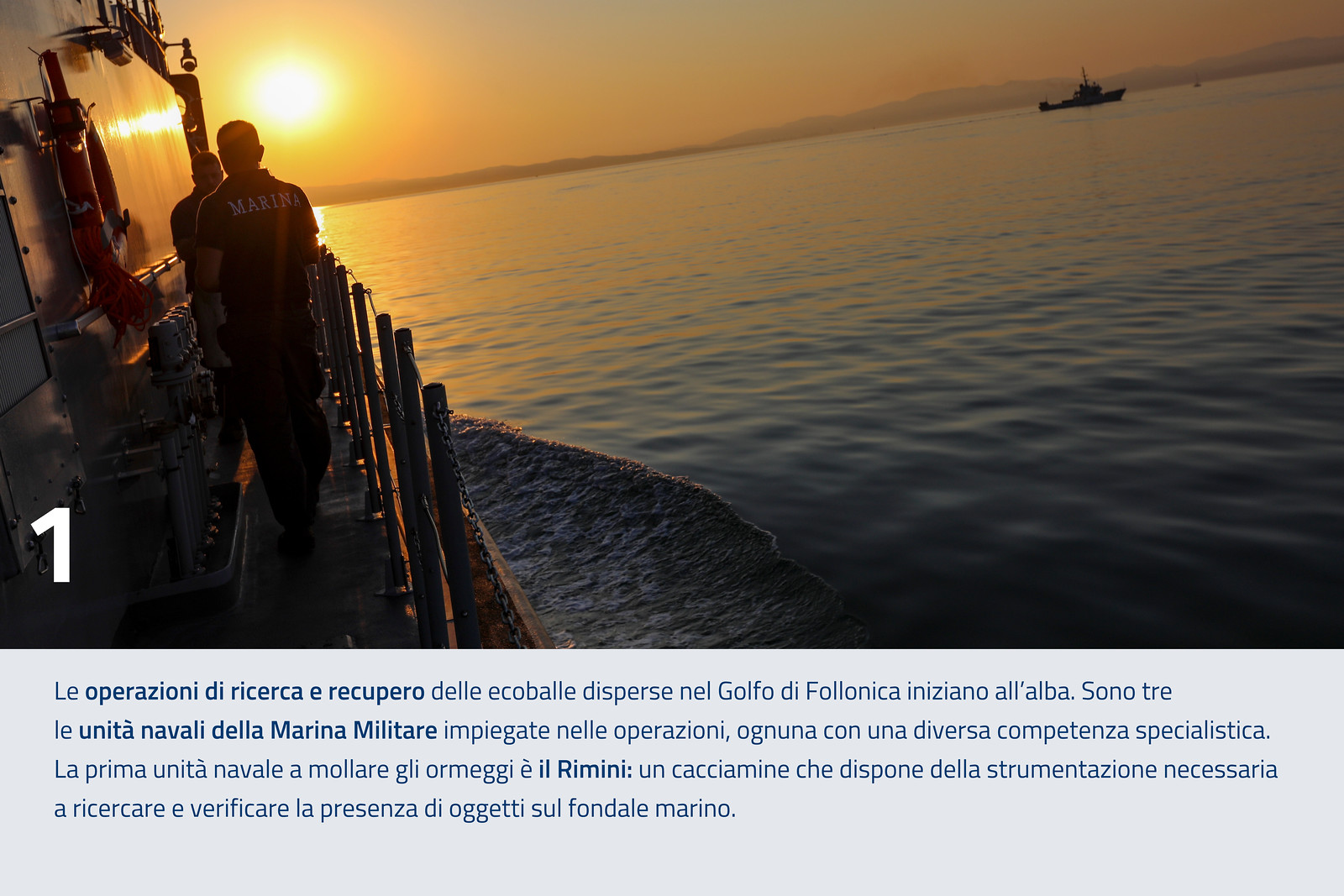 Le operazioni di ricerca e recupero delle ecoballe disperse nel Golfo di Follonica