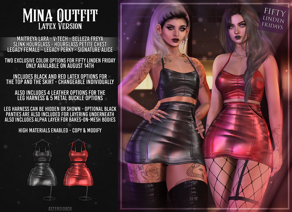 AsteroidBox. Mina Outfit (Latex Exclusive) @ Fifty Linden Fridays