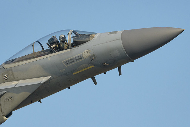 F-15C driver at work