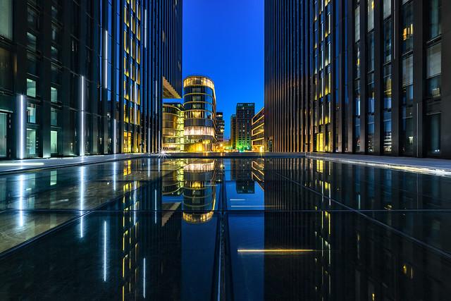 urban canyon reflection