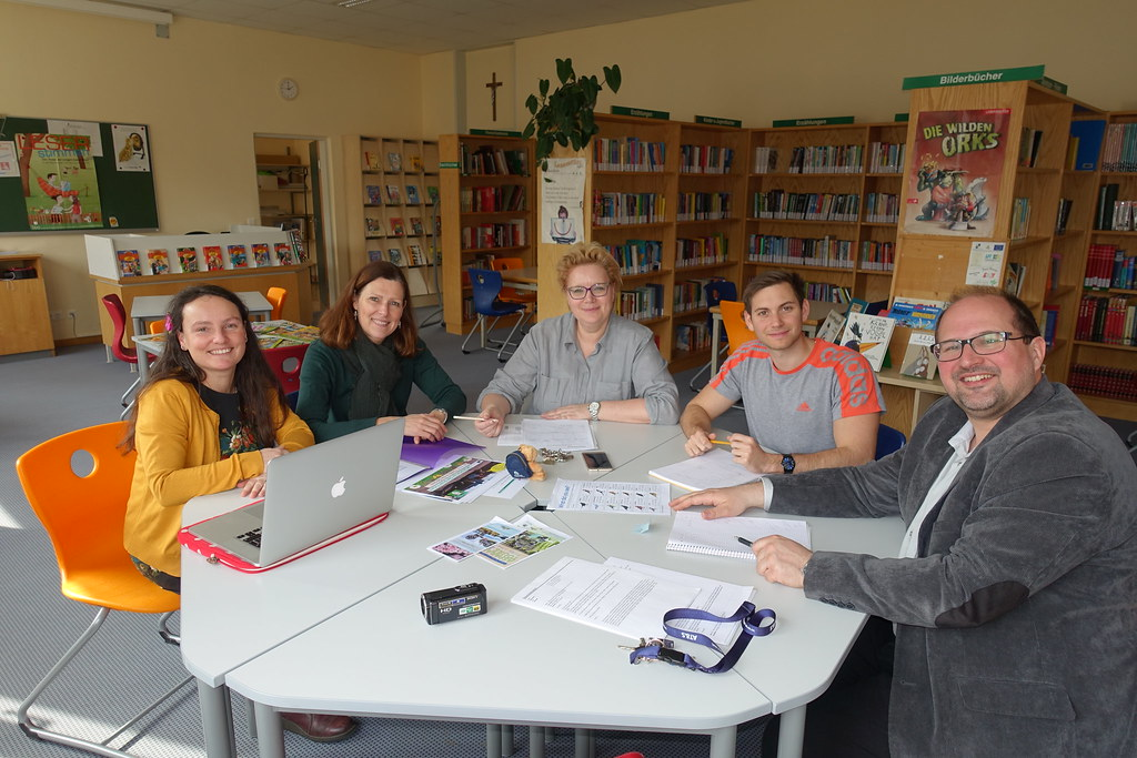 Bredon Hill Academy staff and project partners during their first project meeting