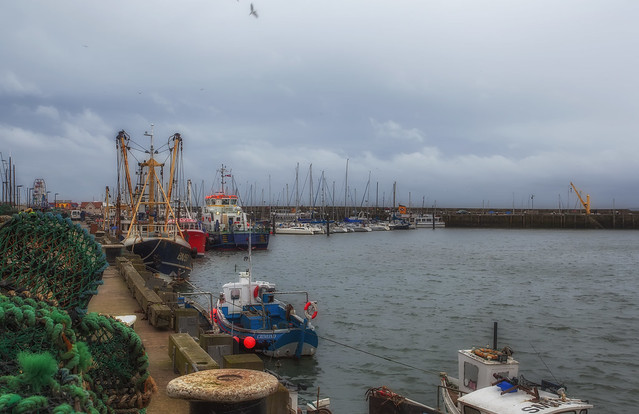 Fishing Boats Scarborough Harbour UK