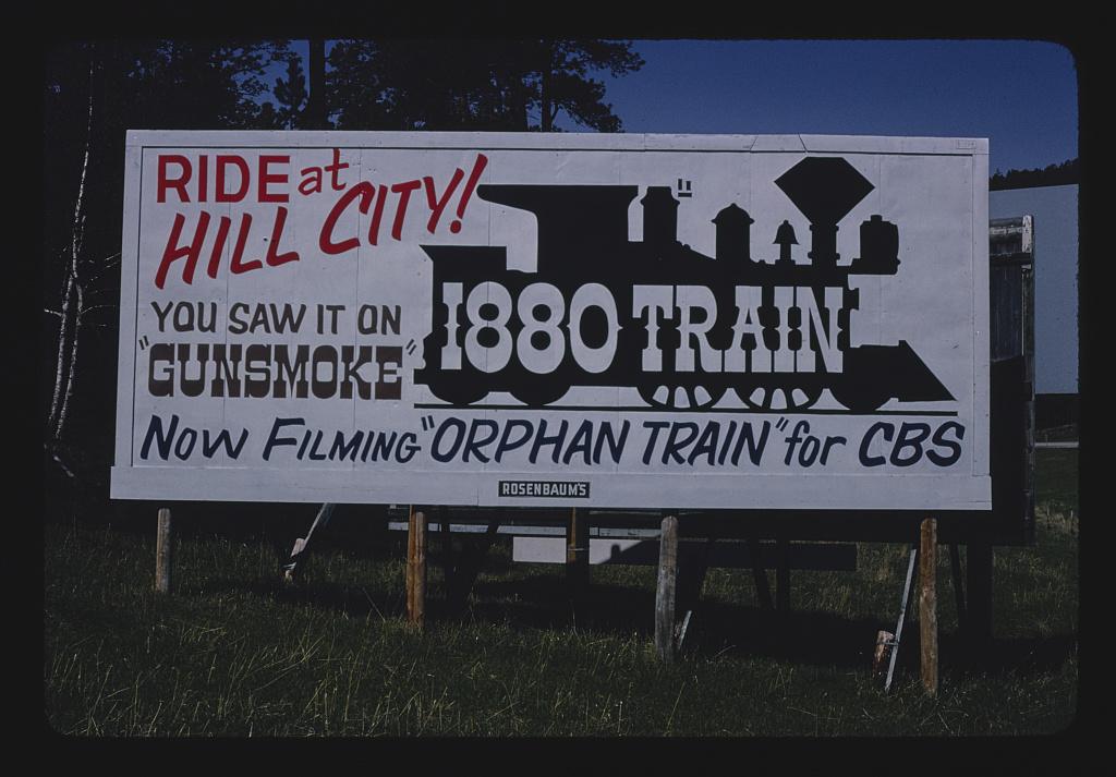 1880 train billboard, near Keystone, Rt. 16, Keystone, South Dakota (LOC)