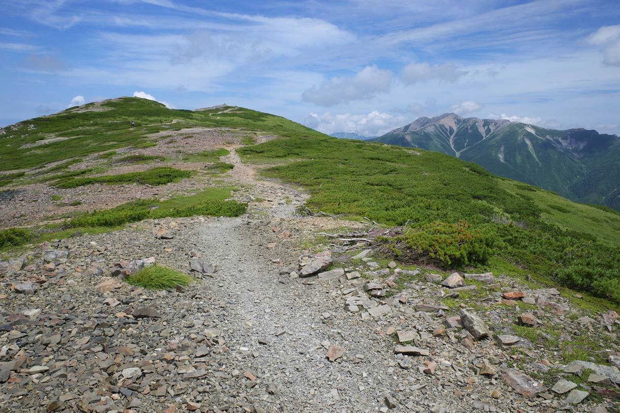 北ノ俣岳~薬師岳の稜線登山
