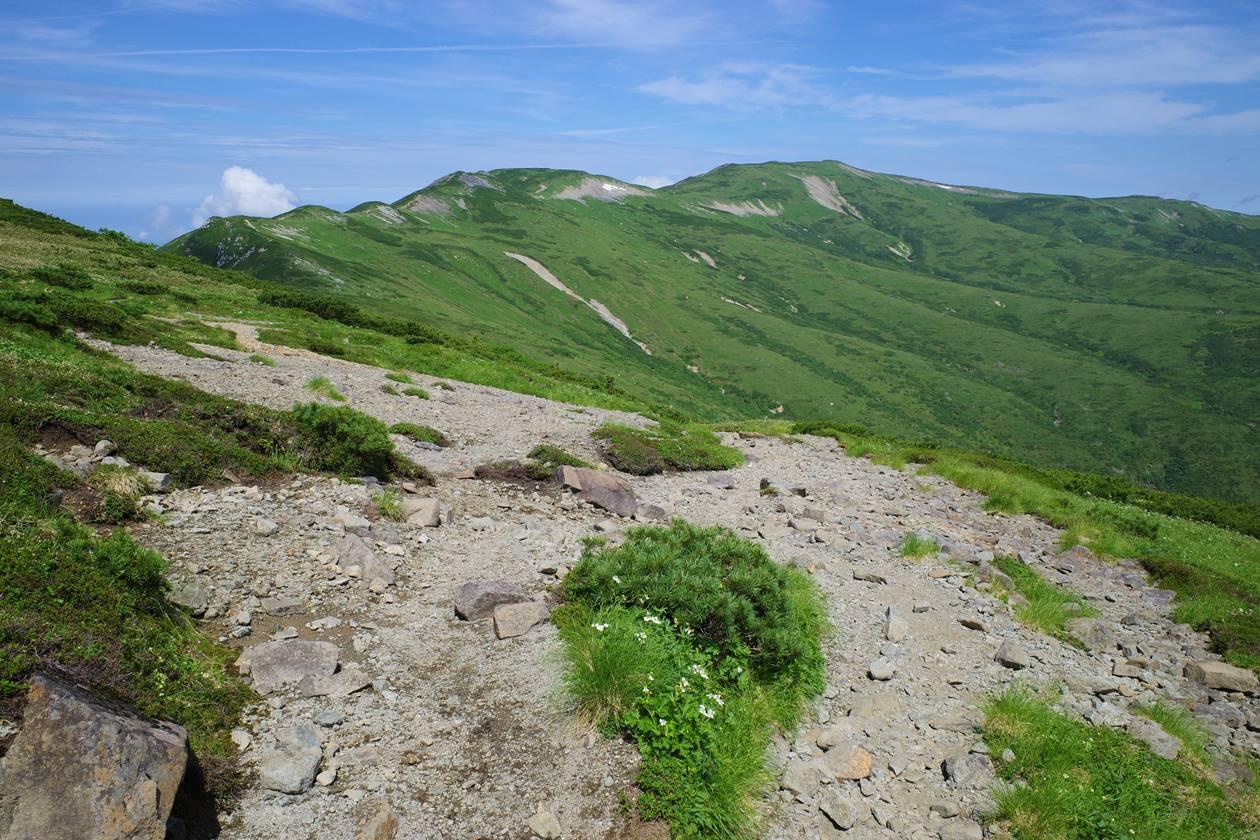 赤木岳から眺める北ノ俣岳