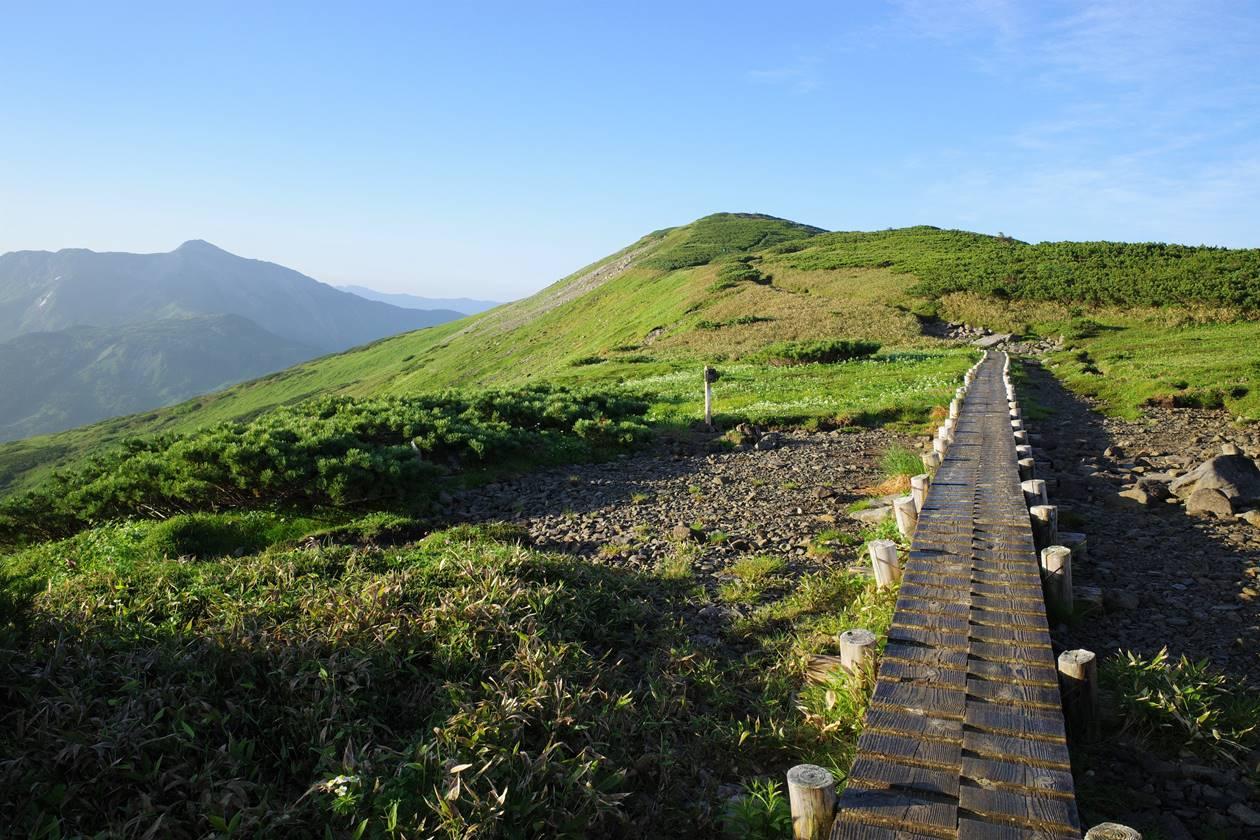 北ノ俣岳の木道