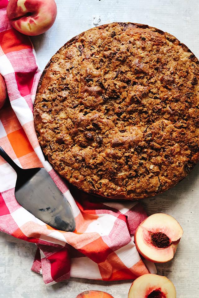 Peach Ginger Crumb Cake